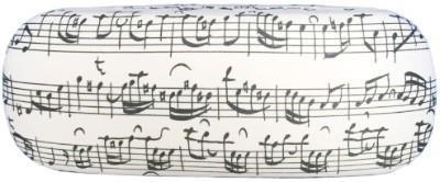 Akinių dėklas - Sheet Music (White)